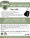 Summer Boot Camp for College