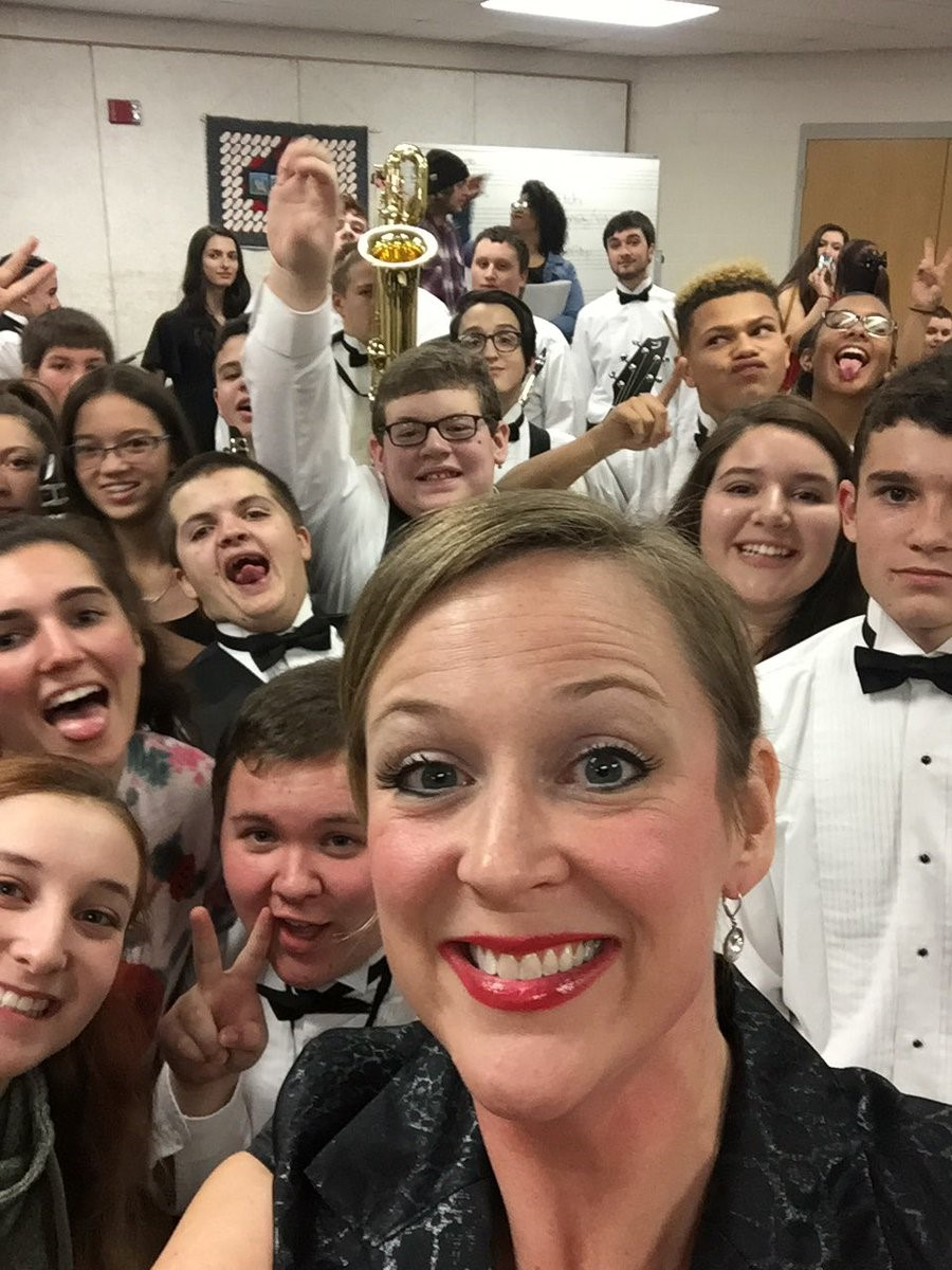 Getting ready to perform! - Ms. Pennington