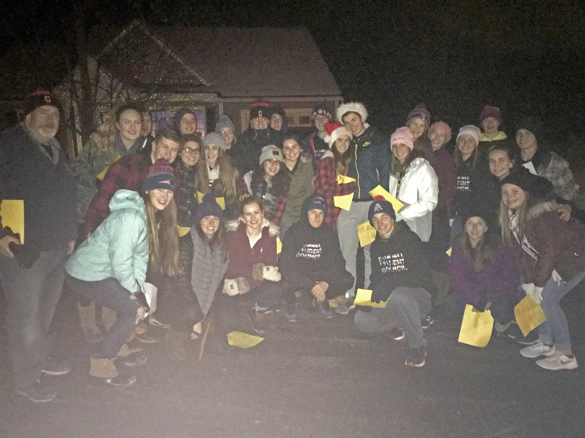 Student Council Goes Caroling