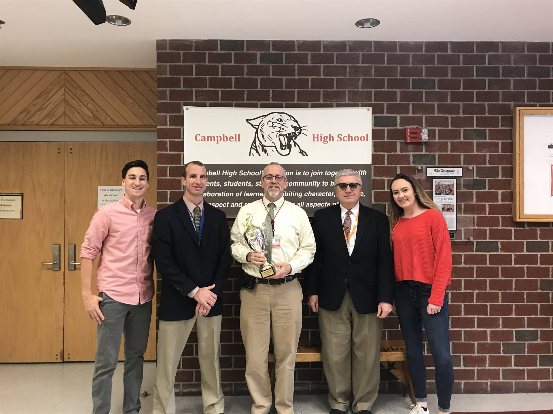 Campbell is awarded the Make-A-Difference Week Trophy