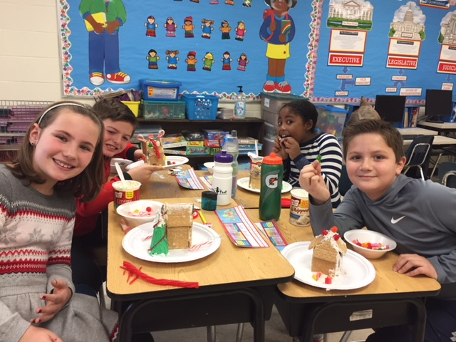 Gingerbread houses in Mrs. Levesque's room