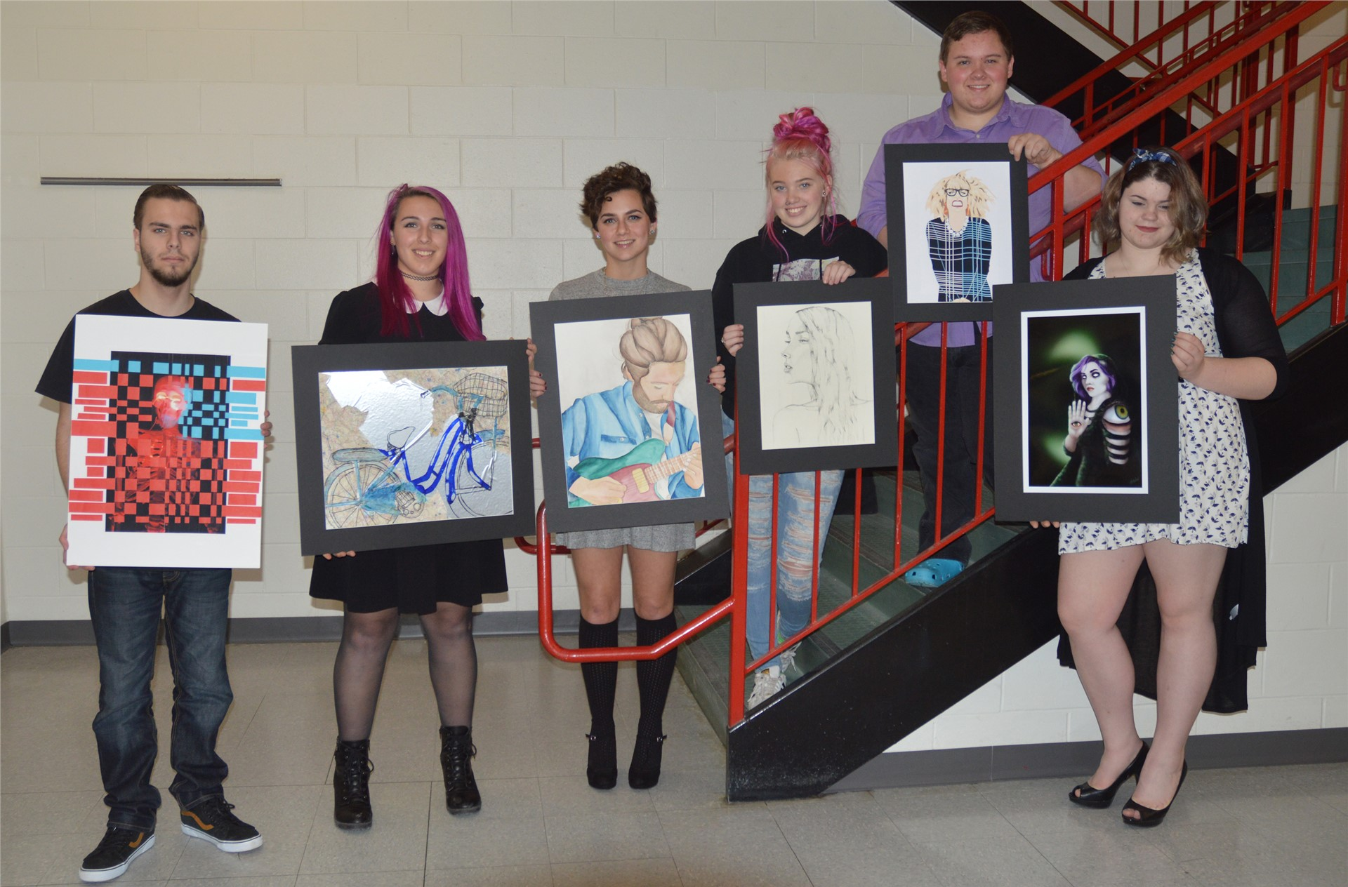 Scholastic Arts Awards Recipients! Congratulations! Picture by Mrs. Freeman