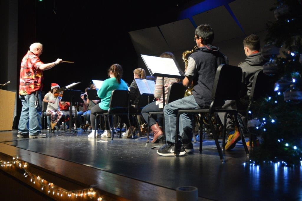 Band performance at the Tree Lighting, photo by Mrs. Freeman