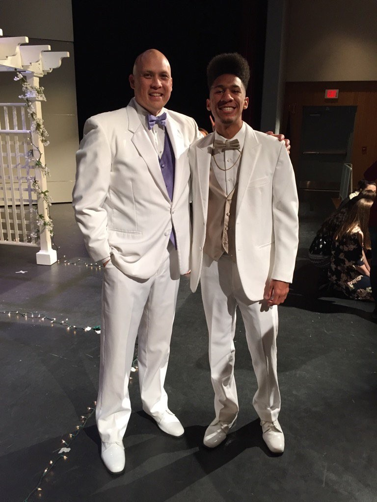 Mr. Perez and Roberto L. at this year's Fashion Show