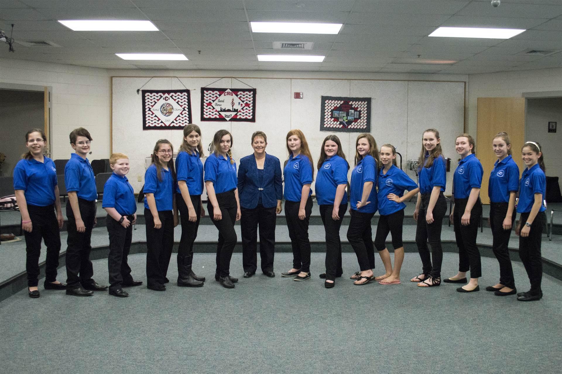 Ms. Shoemaker & LMS Chorus Students