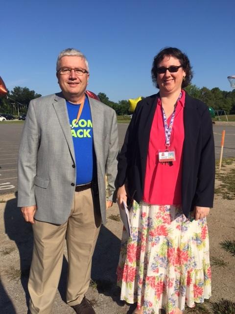 Principal Scott Thompson and Assistant Principal Maura Clinton-Jones