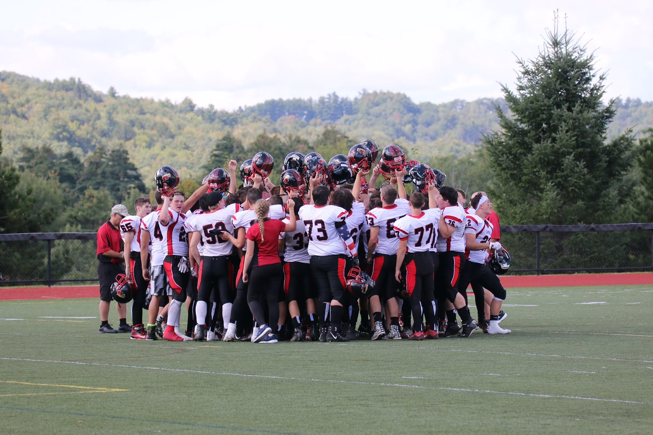 Cougar Football Players Celebrate a Win! Picture by Leo Carten
