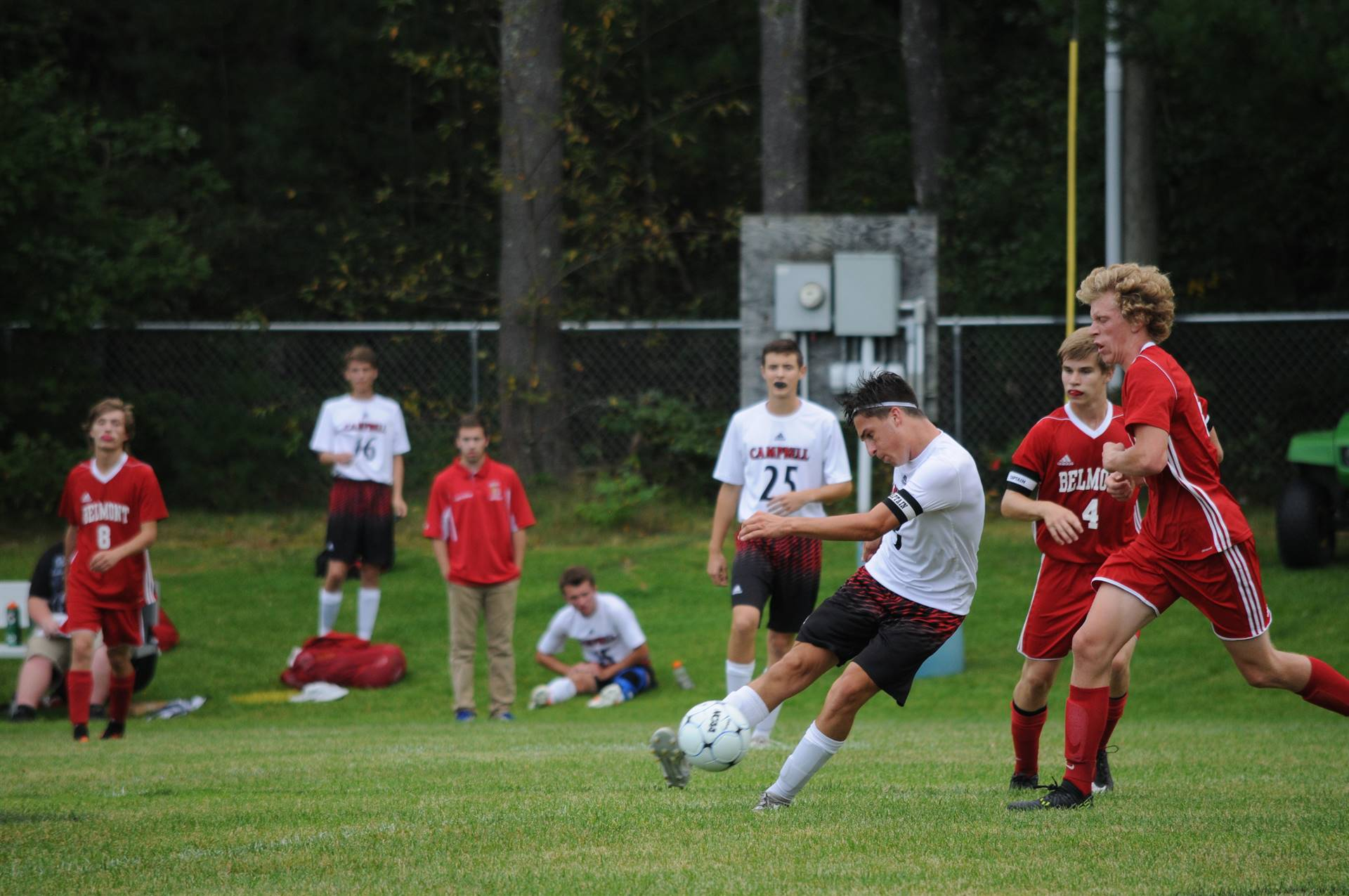 J. Scafidi clearing the ball.