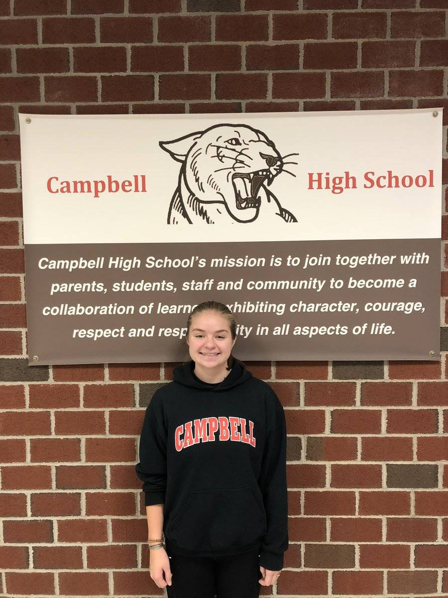CHS October Student of the Month - Grace Theberge