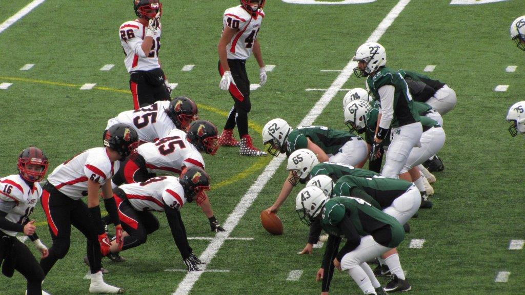 Defense ready to hold off the offense during the NHIAA D-III Championship Game