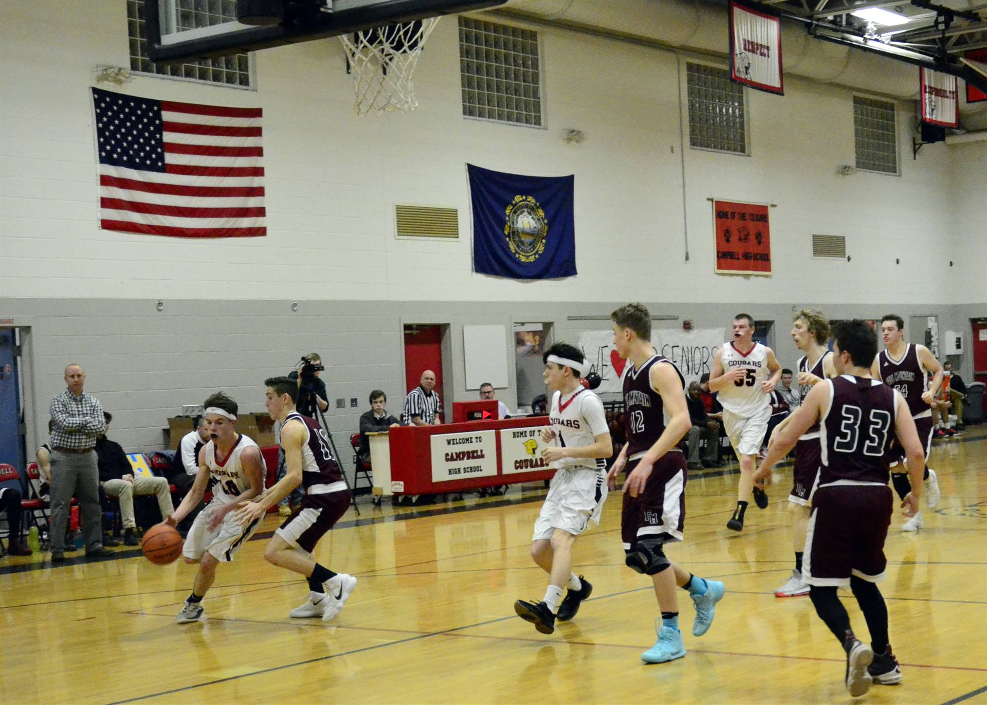 Boys basketball keeping the ball in their control