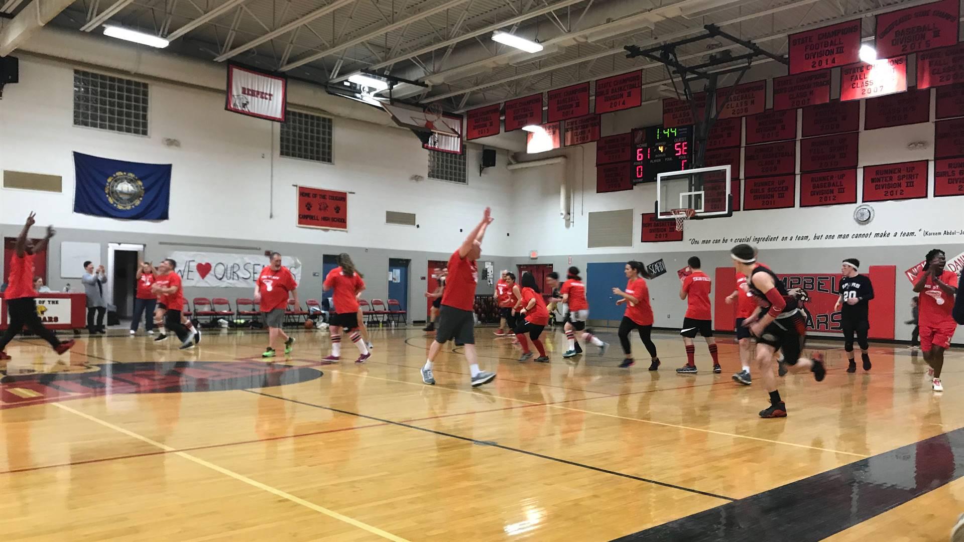 Student vs Staff Basketball game