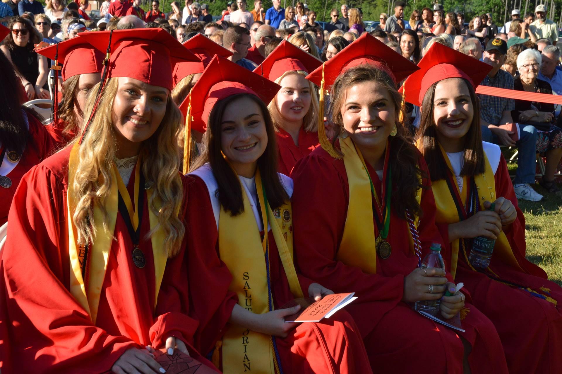 Molly, Brianna, Lindsay & Mary at Graduation