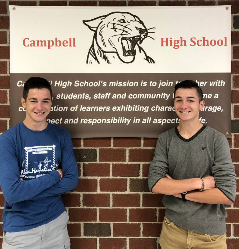 CHS October Students of the Month - Trevor and Tyler Scopelites