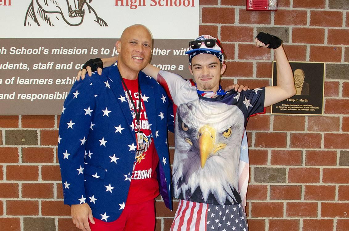 Mr. Perez and Mason rocking America Day