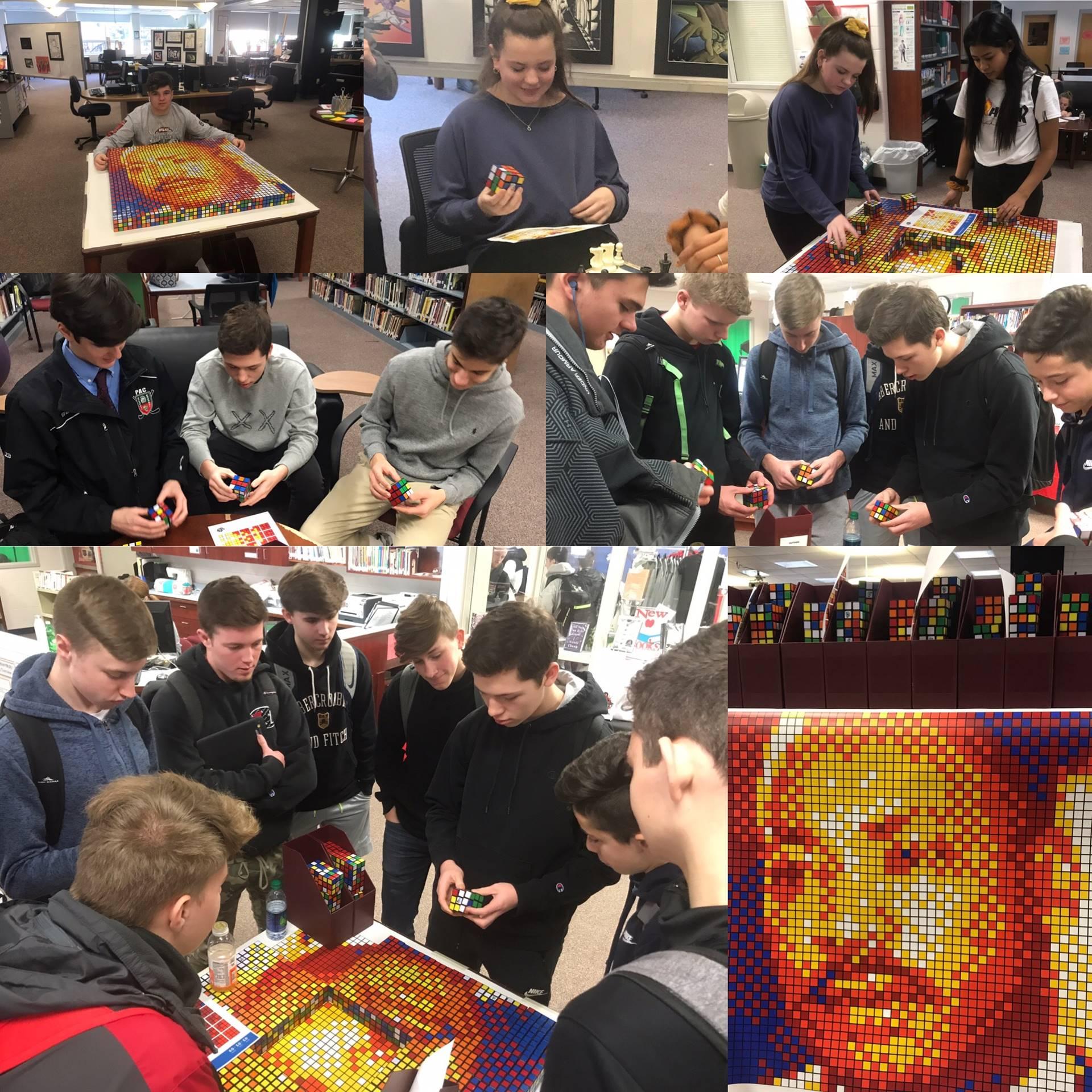 MLK Rubik Cube Mosaic