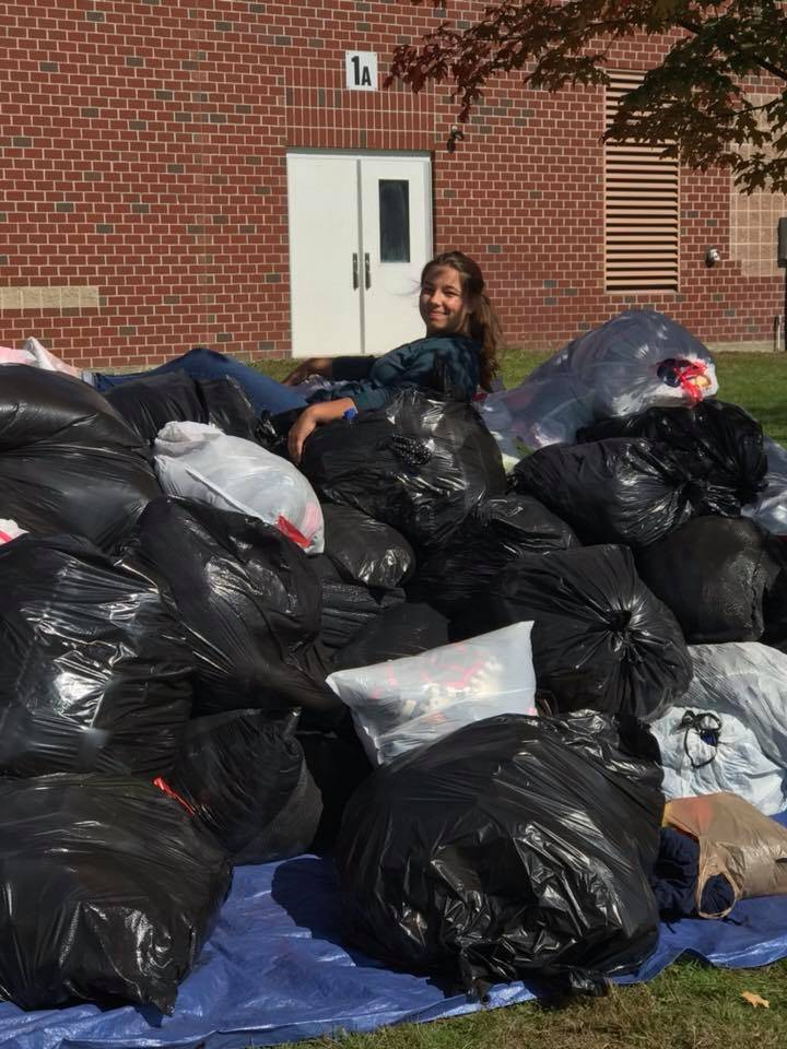 Clothing drive was a success!!