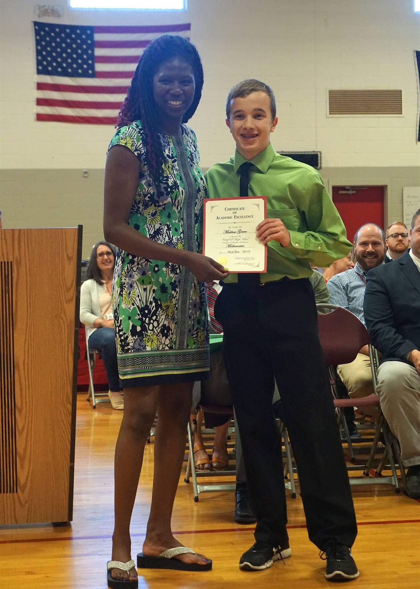 Math Department Award