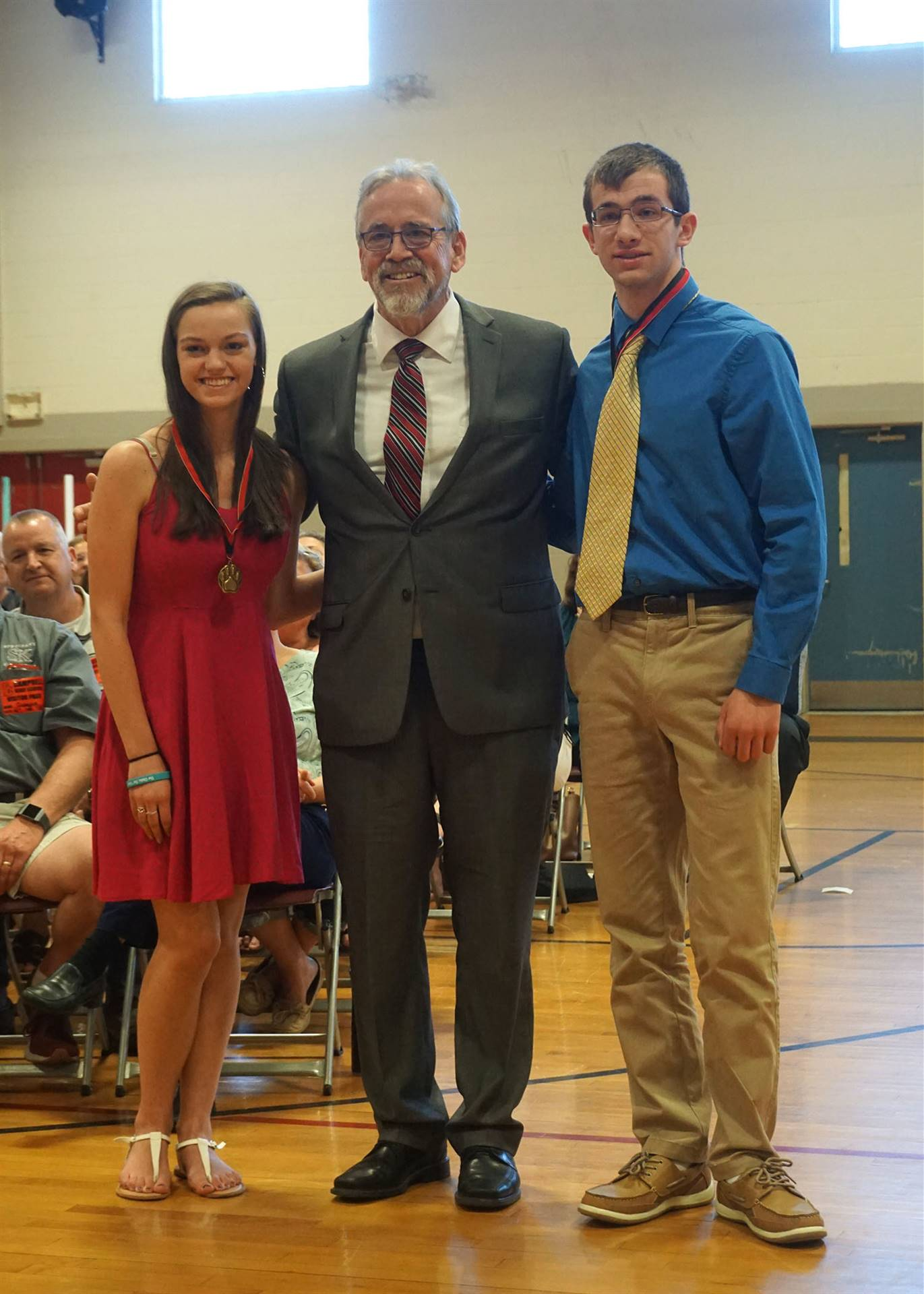 Character award presented to Anthony & Rebecca