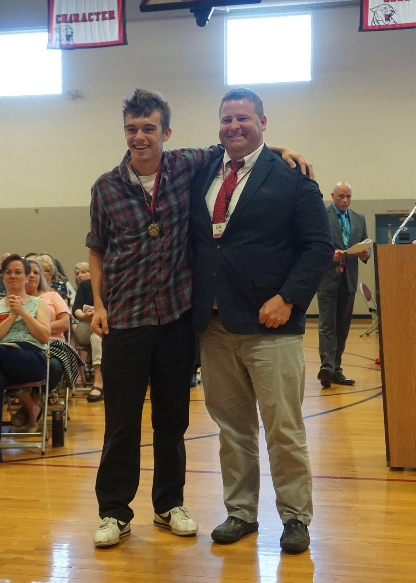 Courage award presented to Mason & Kaitlyn