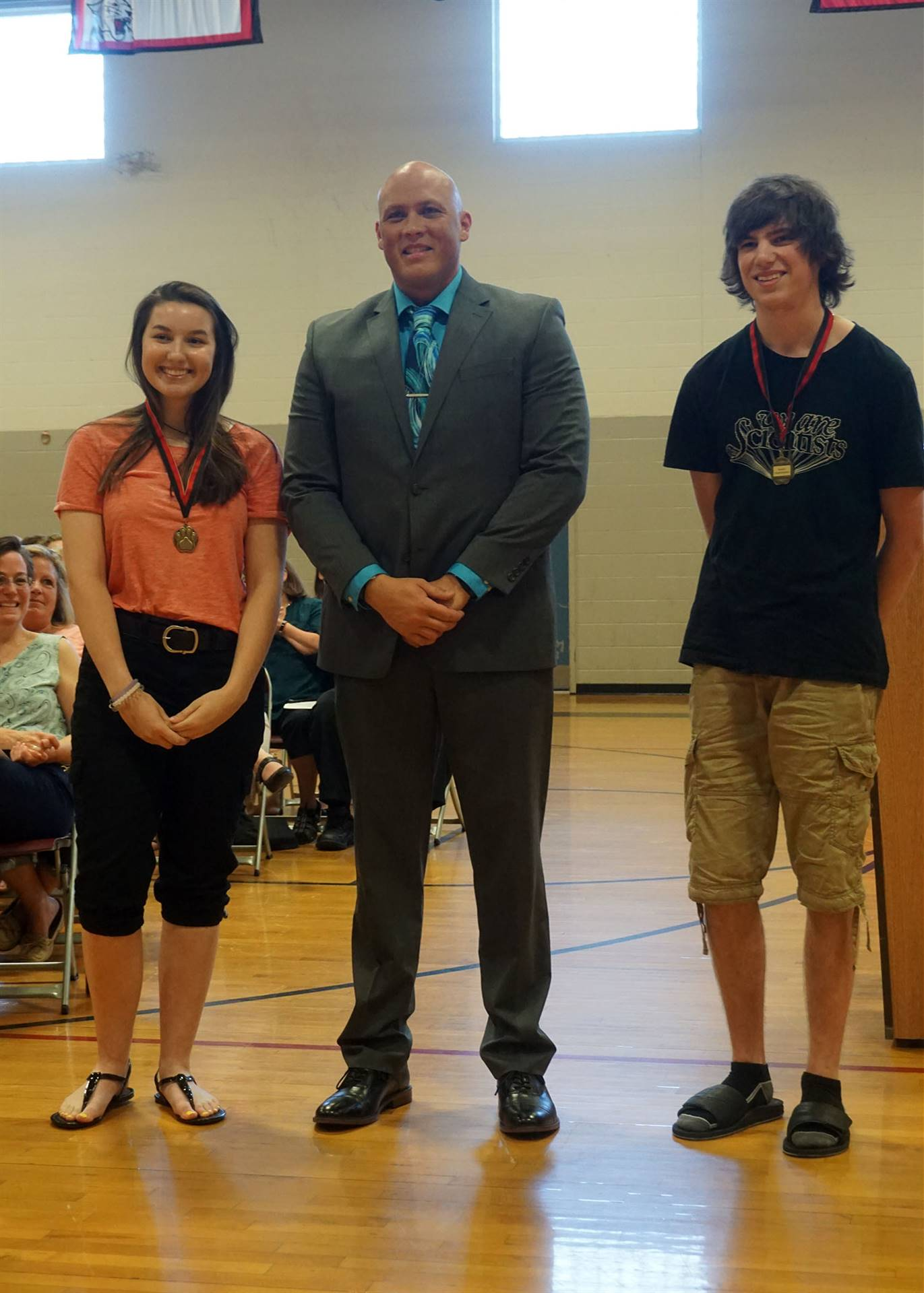 Respect award presented to Angela & Nick