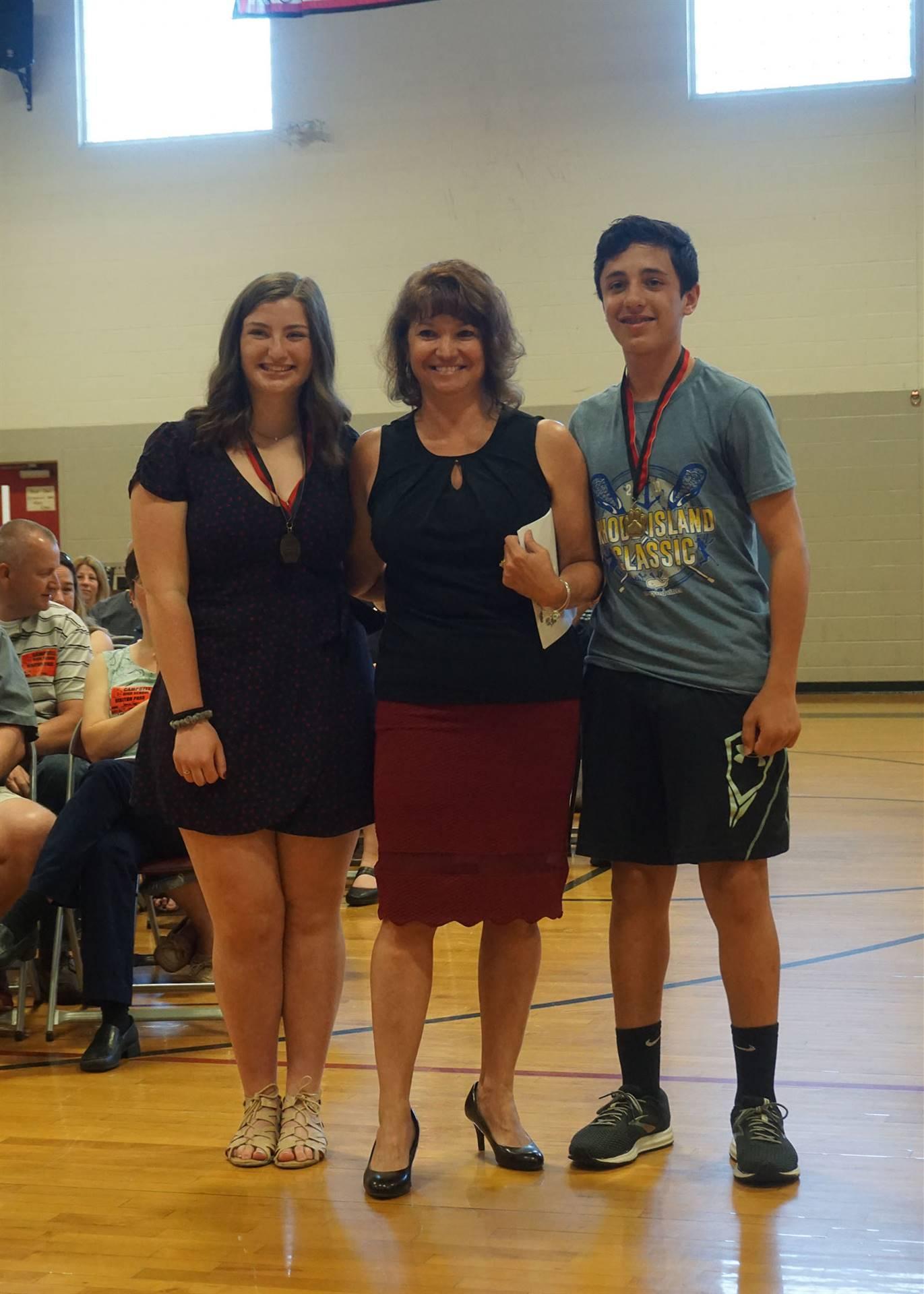 Responsibility award presented to Nick & Kasey
