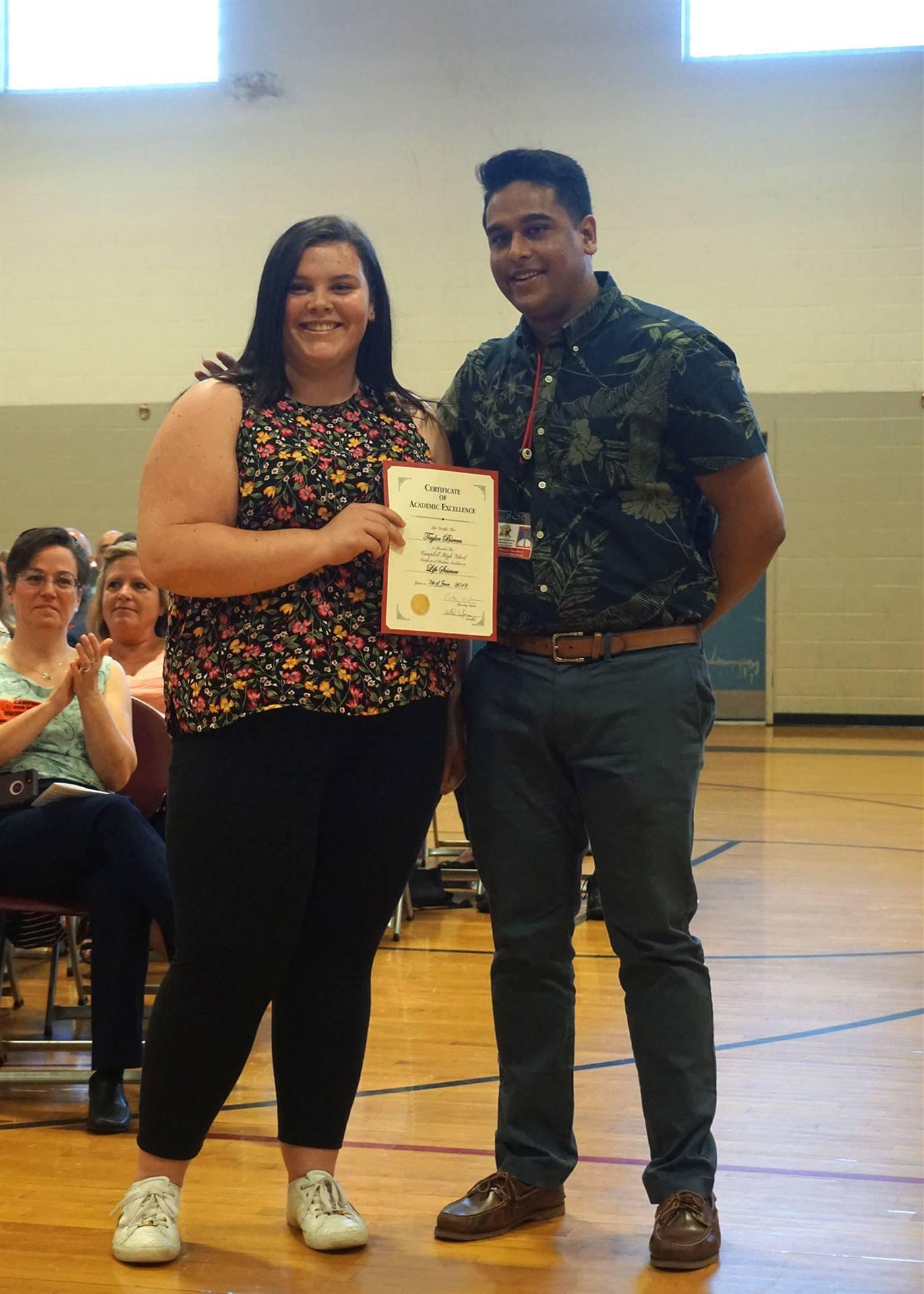 Life Science Department Award