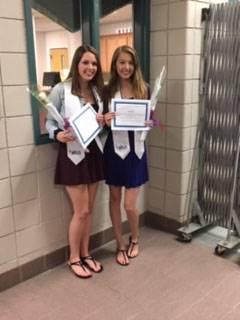 Jess G & Lexi R awarded their LNA