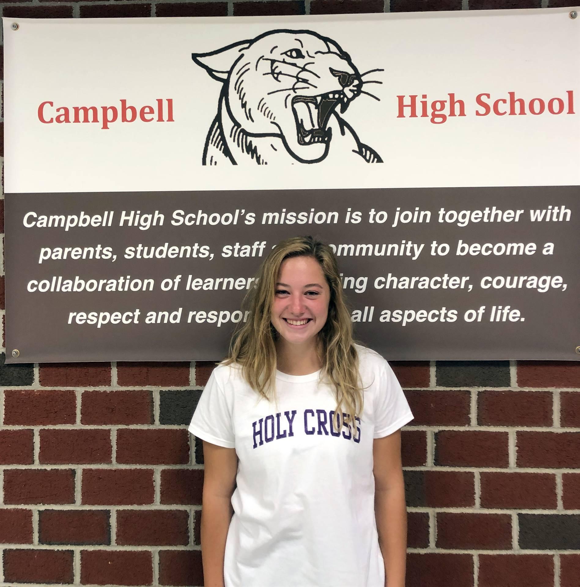 CHS September Student of the Month - Mackenzie Wagner