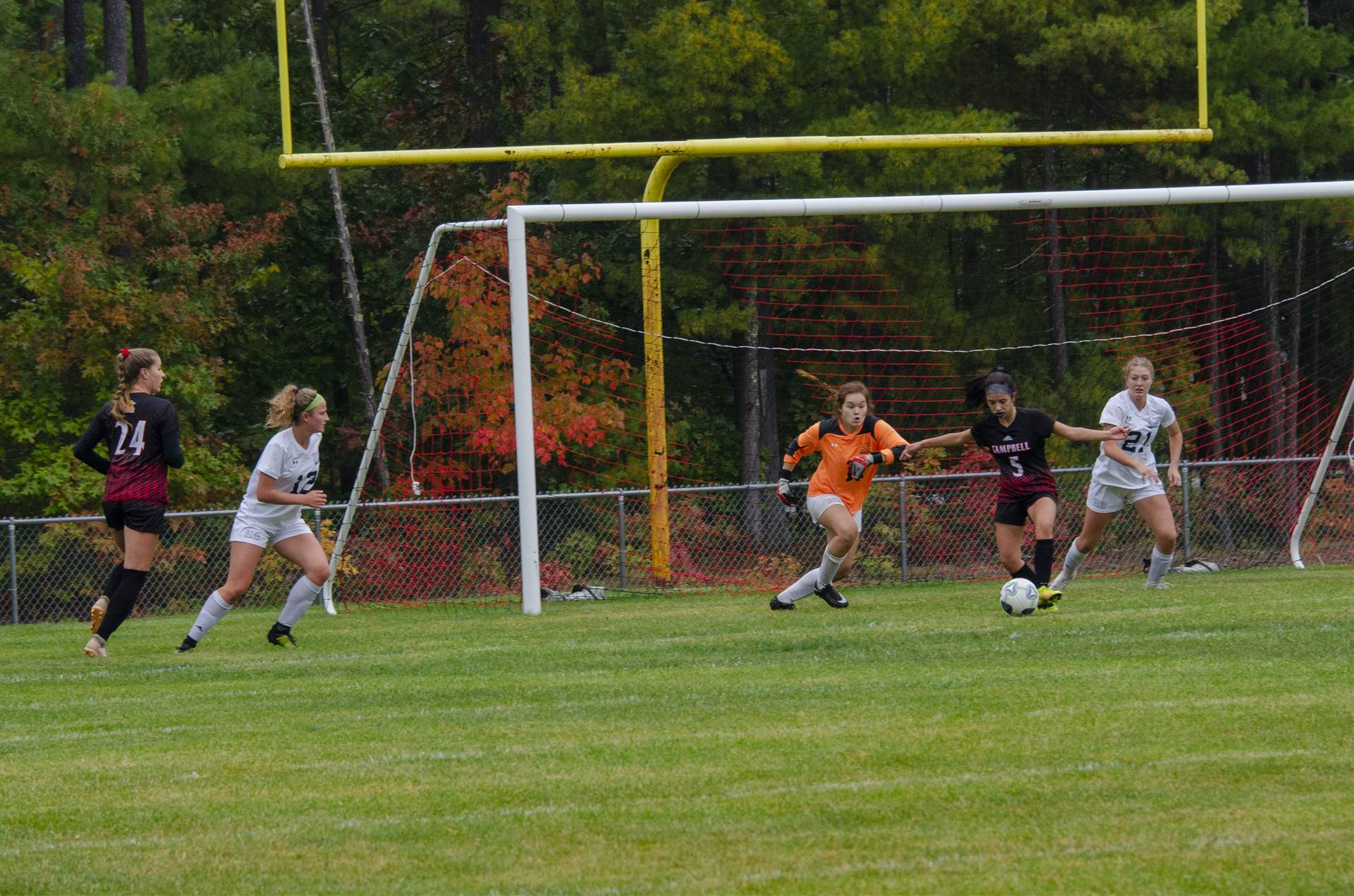 Gabby getting ready to score