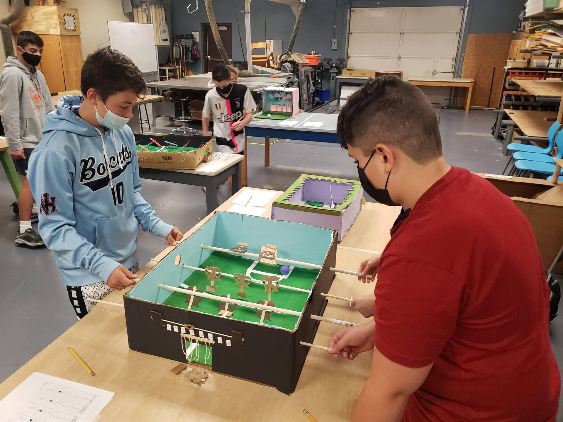 Cardboard arcade in Tech Ed/STEAM class