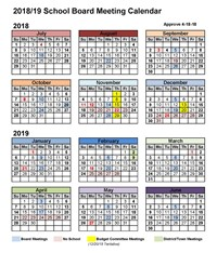 school board calendar