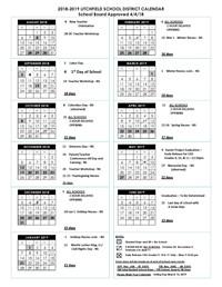 school district calendar